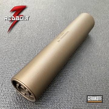 Silencer Cerakoted Using Midnight Bronze