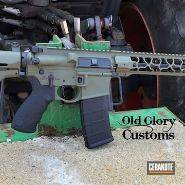 Spikes Tactical Ar Build Cerakoted Using Sniper Green