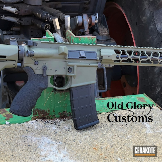 Cerakoted: S.H.O.T,Sniper Green H-229,Spikes,Odinworks,AR-15,Crusader