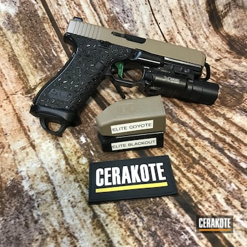 Glock 17 Cerakoted Using M17 Coyote Tan And Blackout