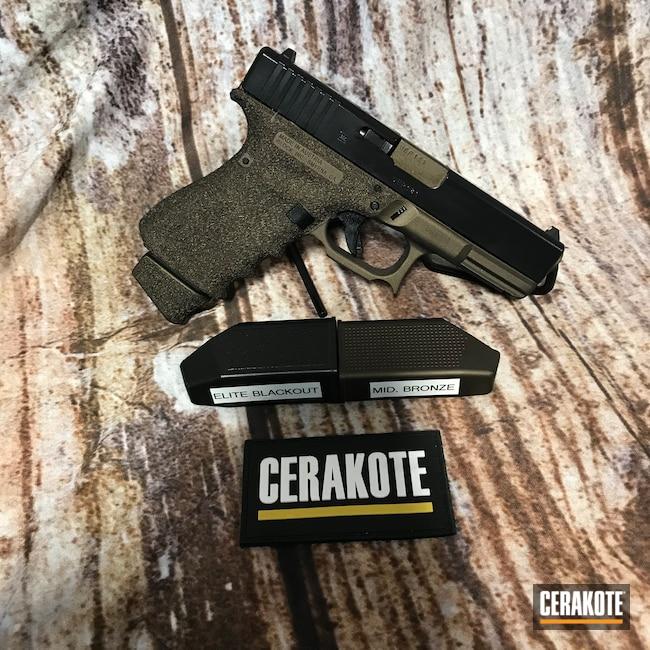 Cerakoted: S.H.O.T,Glock 19,BLACKOUT E-100,Pistol,Glock,Midnight Bronze H-294