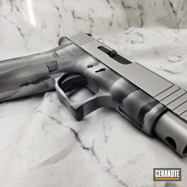 Cerakoted: S.H.O.T,Glock 48,9mm,Midnight Blue H-238,Hesseling,SAVAGE® STAINLESS H-150,Camo,Satin Aluminum H-151,Glock,g48,Custom Camo