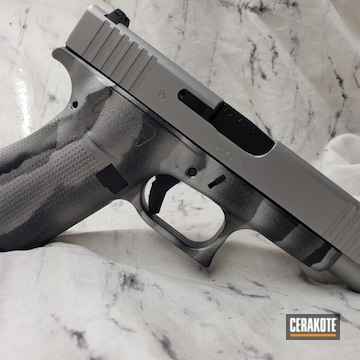 Glock 48 Cerakoted Using Savage® Stainless, Satin Aluminum And Midnight Blue
