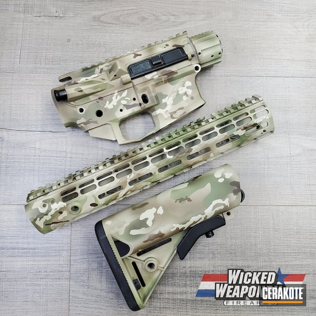 Cerakoted: S.H.O.T,ocp,MultiCam,Graphite Black H-146,Desert Sand H-199,MULTICAM® DARK BROWN H-342,Camouflage,Noveske Bazooka Green H-189,5.56,AR-15