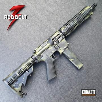 Multicam Nfa Ar Cerakoted Using Sniper Green, Sig™ Dark Grey And Graphite Black