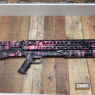 Custom Semi-auto Shotguns Cerakoted Using Robin's Egg Blue And Copper Brown