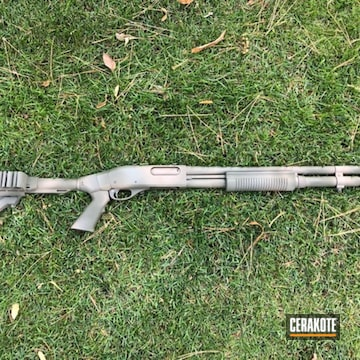 Remington 870 Cerakoted Using Magpul® Foliage Green, Flat Dark Earth And Mil Spec O.d. Green