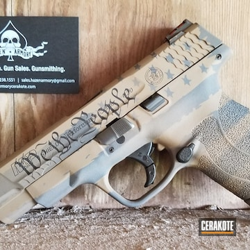 M&p Shield Cerakoted Using Sniper Grey, Graphite Black And Flat Dark Earth