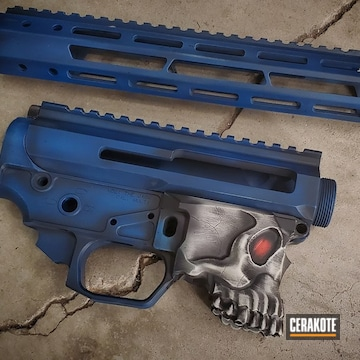 Spikes Tactical Lower And Upper Cerakoted Using Sky Blue