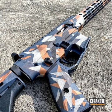 Splinter Camo Cerakoted Using Vortex® Bronze, Cobalt Kinetics™ Slate And Platinum Grey