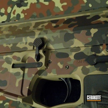 Multicam Ar Build Cerakoted Using Multicam® Pale Green, Chocolate Brown And O.d. Green