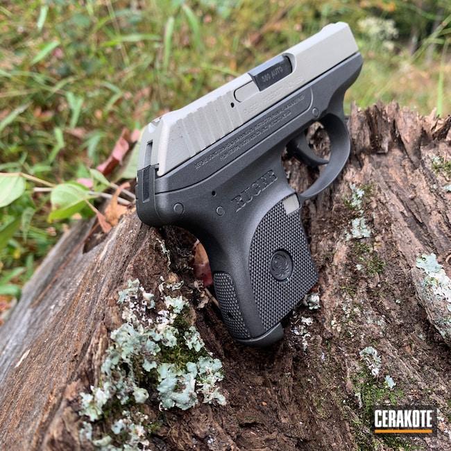 Cerakoted: S.H.O.T,Custom Paint,Shimmer Aluminum H-158,Ruger,Graphite Black H-146,.380,Ruger LCP,Pistol,Handgun