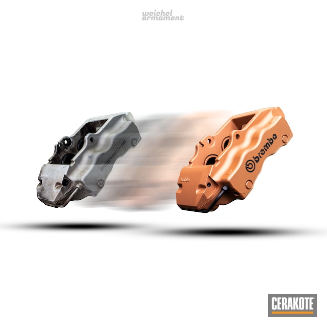 Cerakoted: COPPER H-347,Brake Calipers,Brembo,Automotive