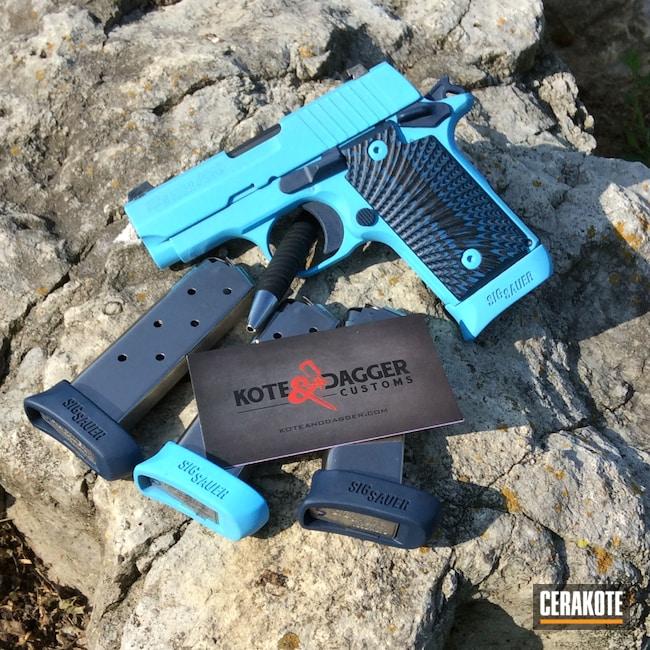 Cerakoted: G10 Scales,.380,Blueberry,Pistol,Sig Sauer,BLUE RASPBERRY H-329,Firearms,P238