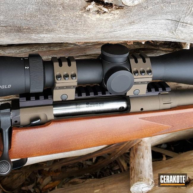 Cerakoted: S.H.O.T,Rifle,Savage Arms,Model 110,Graphite Black H-146,Midnight Bronze H-294