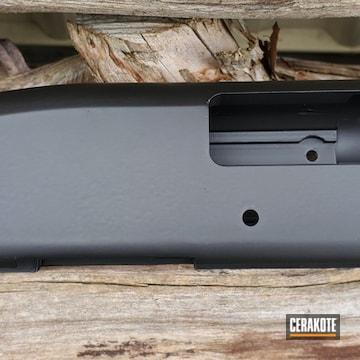 Mossberg Shotgun Receiver Cerakoted Using Graphite Black