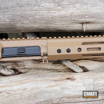 Palmetto State Armory Complete Upper Cerakoted Using Mud Brown And Graphite Black