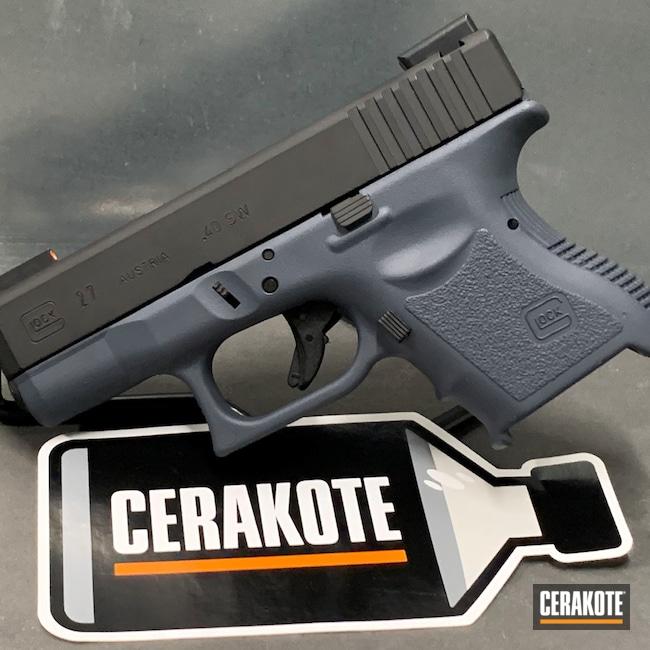 Cerakoted: S.H.O.T,Armor Black H-190,Pistol,Glock 27,.40,Combat Grey H-130,Semi-Auto