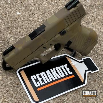 Multicam Glock Cerakoted Using Multicam® Pale Green, Multicam® Olive And Magpul® Flat Dark Earth