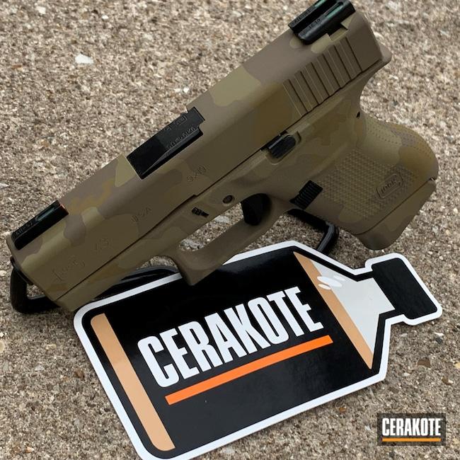 Cerakoted: S.H.O.T,9mm,MAGPUL® FLAT DARK EARTH H-267,MultiCam,MULTICAM® OLIVE H-344,Camo,Pistol,MULTICAM® PALE GREEN H-339,Semi-Auto,Glock 43