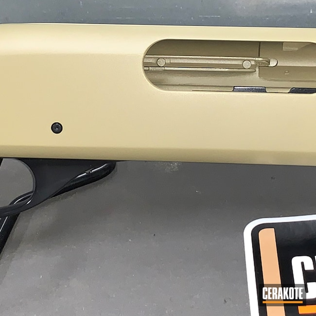 Cerakoted: S.H.O.T,Pump,Shotgun,BLACKOUT E-100,870,Remington 870,20 Gauge,MULTICAM® PALE GREEN H-339