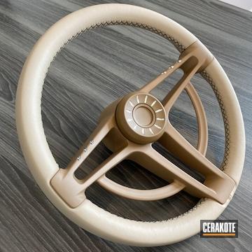 Custom Steering Wheel Cerakoted Using Mcmillan® Tan