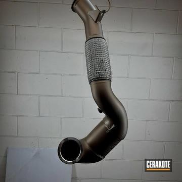 Turbo Exhaust Cerakoted Using Burnt Bronze
