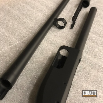 Remington 870 Parts Cerakoted Using Armor Black