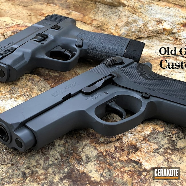 Cerakoted: S.H.O.T,Smith & Wesson,S&W 908,Concrete E-160,S&W,M&P Shield