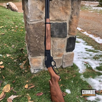 Marlin Rifle Cerakoted Using Midnight Blue