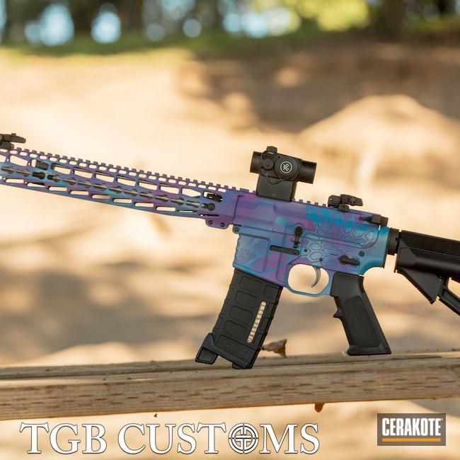 Cerakoted: S.H.O.T,Kryptek,Bright Purple H-217,Girls Gun,Satin Aluminum H-151,Sky Blue H-169,AR-15
