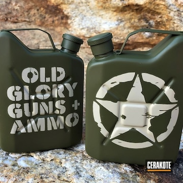 Set Of Jerry Cans Cerakoted Using Noveske Bazooka Green And Benelli® Sand
