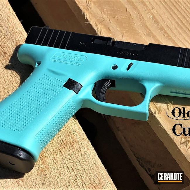 Cerakoted: S.H.O.T,Glock 43X,Robin's Egg Blue H-175,g43x,Graphite Black H-146,Two Tone,Glock,43x
