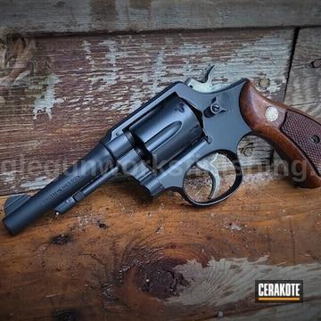 Smith & Wesson Revolver Cerakoted Using Midnight
