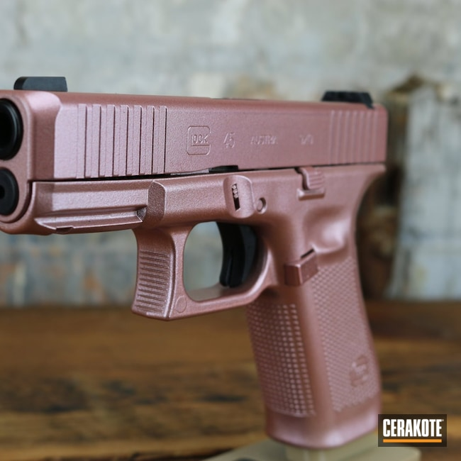 Cerakoted: S.H.O.T,9mm,Glock 45,Rose Gold,Firearm,Pistol,Glock,ROSE GOLD H-327