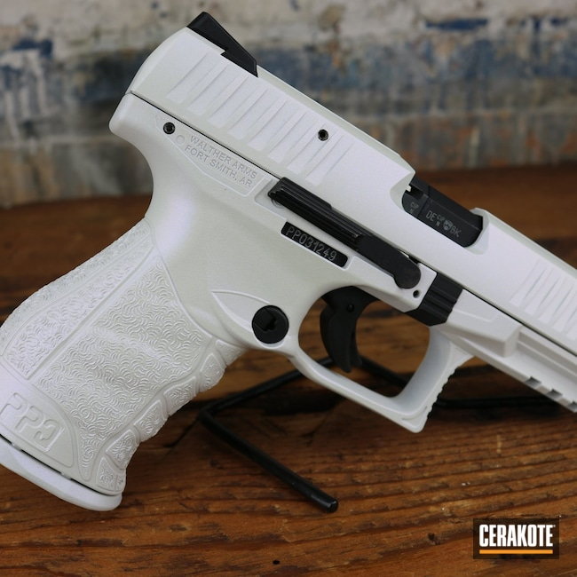 Cerakoted: S.H.O.T,Walther,Stormtrooper White H-297,Firearm,Pistol,ppq