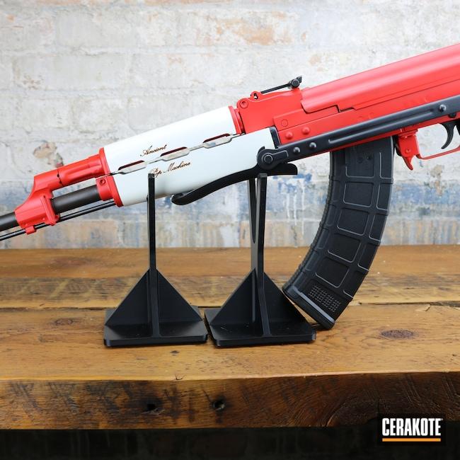Cerakoted: S.H.O.T,Stormtrooper White H-297,Firearm,USMC Red H-167,AK-47,AK