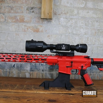 Ar Build Cerakoted Using Usmc Red