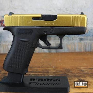 Glock 43x Cerakoted Using Gold