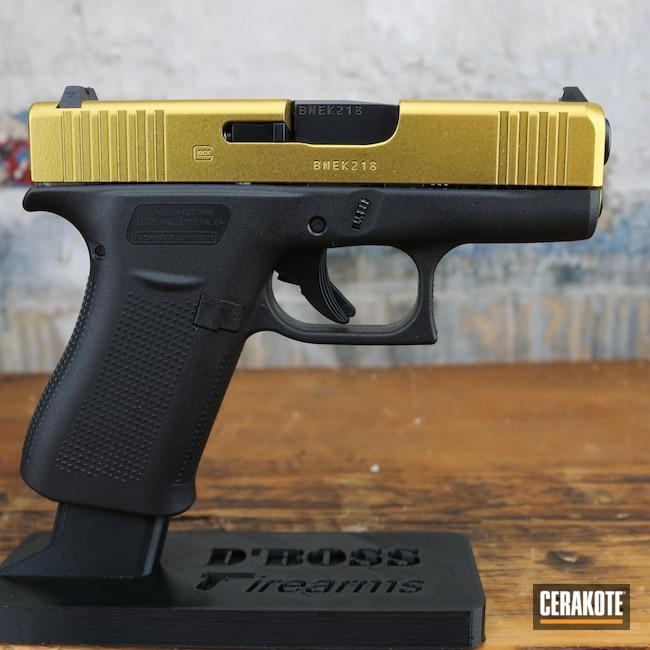 Cerakoted: S.H.O.T,Glock 45,Pistol,Glock,Firearms,Gold H-122