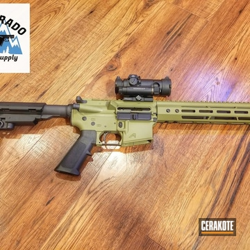 Aero Precision Ar Build Cerakoted Using Noveske Bazooka Green And Graphite Black
