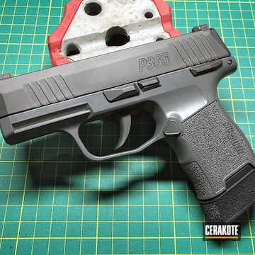 Sig Sauer P365 Cerakoted Using Concrete