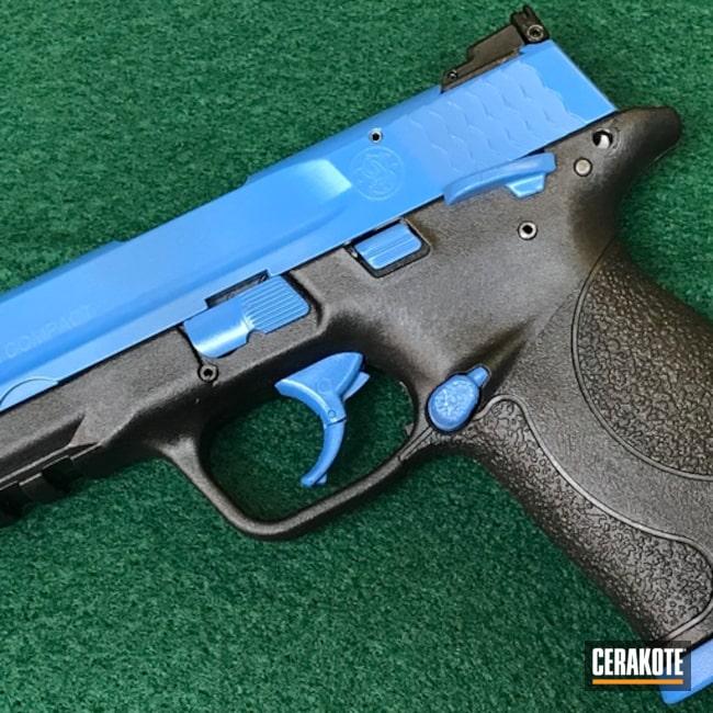 Smith & Wesson M&p Compact 22 Cerakoted Using Sea Blue