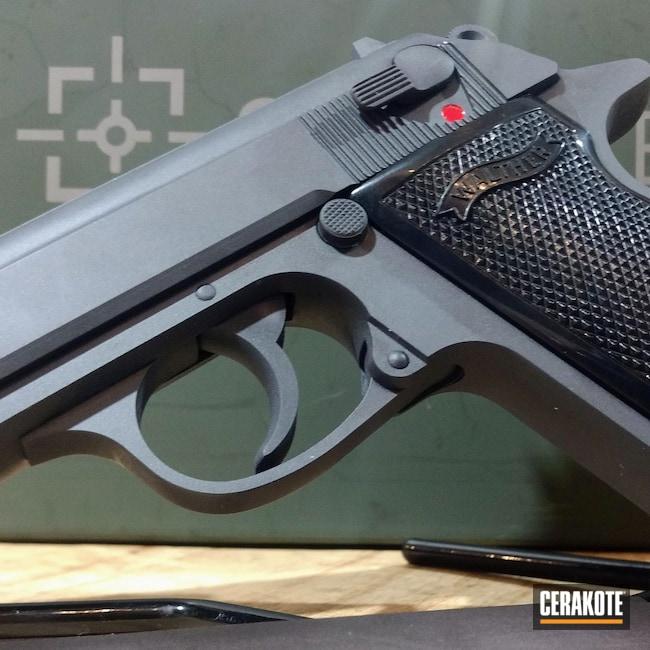 Cerakoted: S.H.O.T,Color,Sniper Grey H-234,Walther,.380,PPK,Pistol,Firearms,German,Single