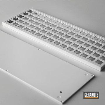 Custom Computer Keyboard Cerakoted Using Stormtrooper White