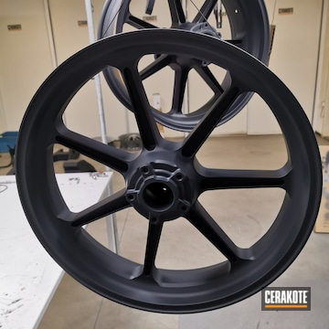 Wheels Cerakoted Using Graphite Black
