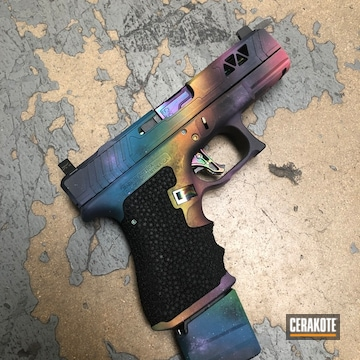 Galaxy Themed Glock Cerakoted Using Squatch Green, Sig™ Pink And Sunflower