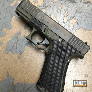 Glock 45 Cerakoted Using Armor Black, O.d. Green And Gold