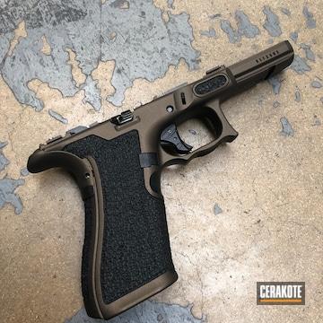 Glock Grip Cerakoted Using Midnight Bronze