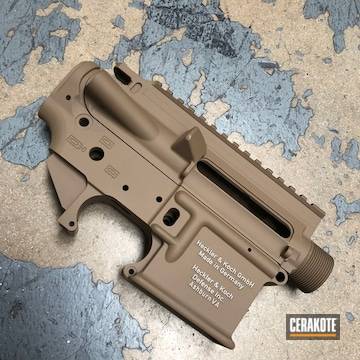 Heckler & Koch Gmbh Clone Ar Upper And Lower Cerakoted Using Barrett® Brown